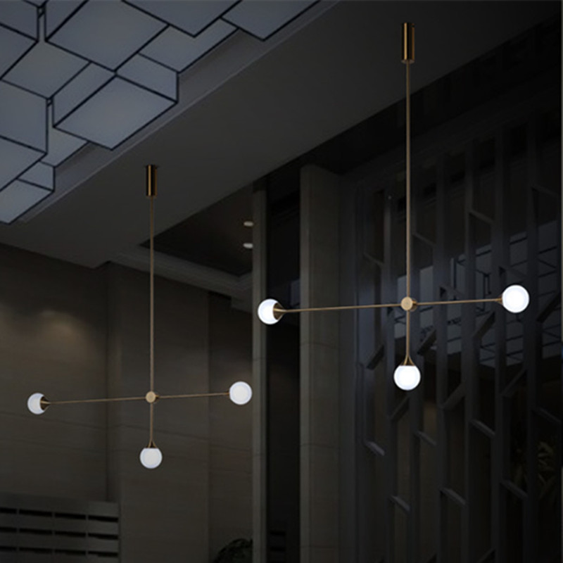 Nordic 3 Lights Art Style Living Room Pendant Light Loft Geometric Dining Room Light Coffee Shop Light With Led Bulbs nordic post modern denmark creative chandelier art crown bar coffee shop decoration light dining lights with led bulbs