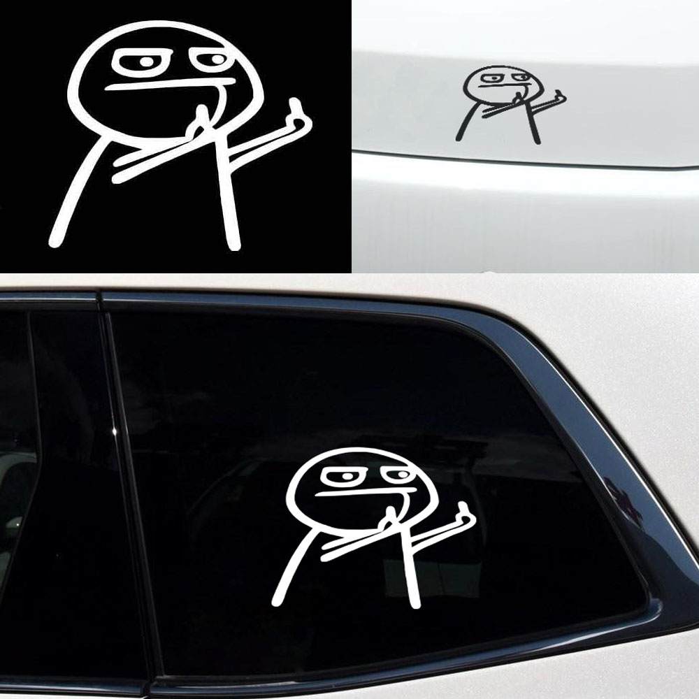 Car <font><b>Sticker</b></font> Funny Cartoon Middle Finger Decal for Volkswagen Tiguan Touareg Scirocco VW Polo sedan Passat B5 <font><b>Golf</b></font> 6 <font><b>mk3</b></font> mk4 4 7 image