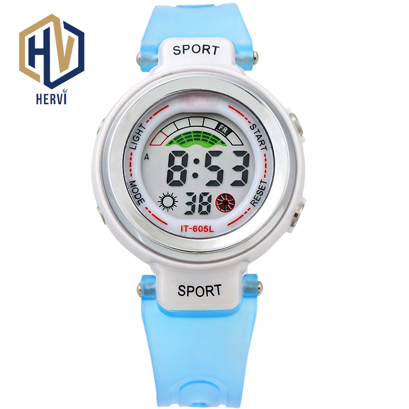 2018 Dropshipping Top Electronic Automatic Women Watch Sport 50M Waterproof Wrist Watch Ladies Fashion Digital Watches H605L B in Women 39 s Watches from Watches