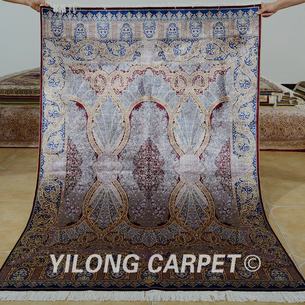 Yilong 4u0027x6u0027 Traditional Persian Carpet Purple Vantage Antique Turkish Rugs  For Sale (1097)