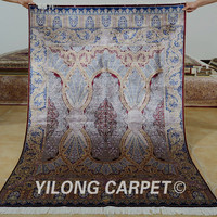 Yilong 4'x6' Traditional persian carpet purple vantage antique turkish rugs for sale (1097)