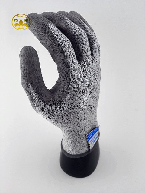 Новый 2016 анти cut gloves10658PU покрытие защиты сборки gloves3 уровень безопасности механики перчатки масло