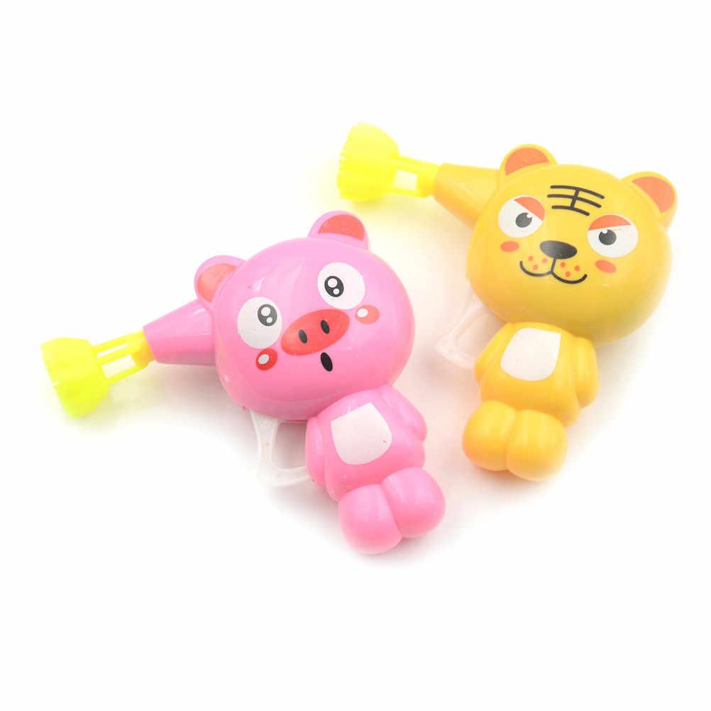 Новые детские мыло пистолет воды пузыря мультфильм животных модель пузырь воздуходувная машина игрушечный водяной пистолет подарок для детей