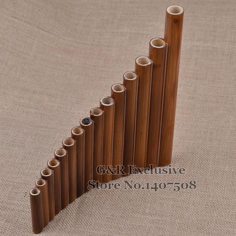 Professional pan fleyta 15 boru elementi Woodwind Flauta G açar - Musiqi alətləri - Fotoqrafiya 3