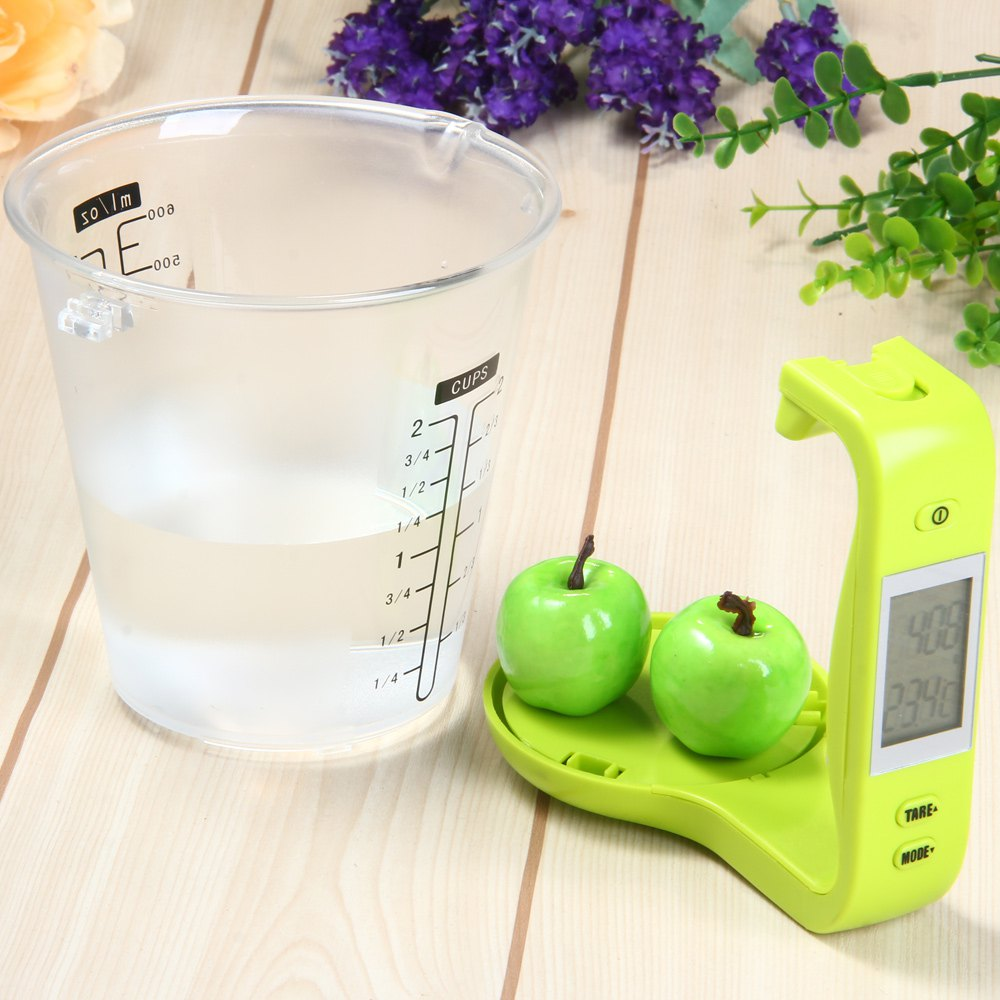 New Hostweigh NS - C01 LCD Kitchen <font><b>Digital</b></font> Scale <font><b>Measuring</b></font> <font><b>Cup</b></font> Coffee Tea Weighing Device Thermometer Household Supplies