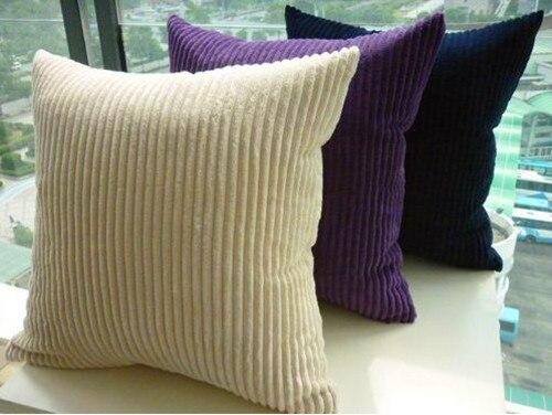 Customize Black Brown Pillowcase Pure Color Cushion Cover Sofa Set Corduroy  Solid Grey Pillowcase