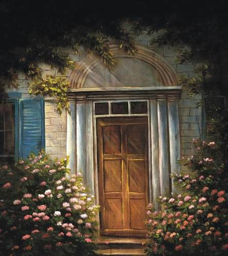 Vintage Door Oil Painting Background Thin Vinyl 5X7ft Wedding Children Photography Backgrounds Studio Decor Backdrops new arrival background fundo simple painting balloon 7 feet length with 5 feet width backgrounds lk 2679