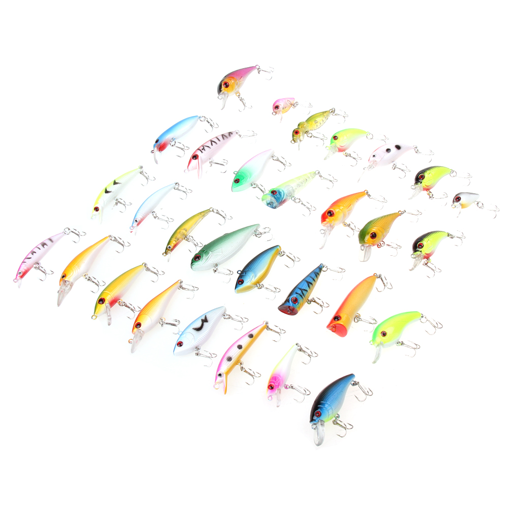 Fishing Lure 30pcs/lot  Fishing Bait  Tackle Minnow Lures/Popper Lur PVC, Stainless Steel 160g Top Quality Fishing Accessories 1 pcs fish lure topwater popper minnow freshwater fishing lures bass bait tackle 4 treble hook fishing lure bait color random