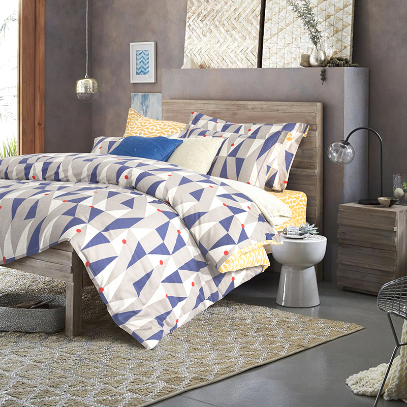 adult queen king size geometric bedding sets yellow white bed sheets u0026 blue white gray duvet cover home textile sets 4 piecesin bedding sets from home