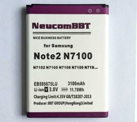 EB595675LU For Samsung Galaxy Note 2 II N7100 N7105 N719 N7108D N7102 3100mAh Note2 Battery NeucomBBT