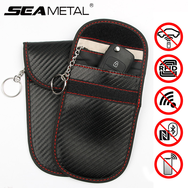 1Pc Car Key Anti-thef Signal Blocker Bag Radiation Protection Shielding bag