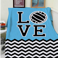 Blankets Comfort Warmth Soft Cozy Air Conditioning Easy Care Machine Wash Creative Volleyball Chevron Love