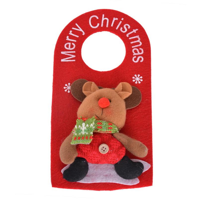 placa de puerta de puerta decoracin de navidad de santa claus mueco de nieve de navidad