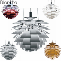 Louis Poulsen PH Artichoke Pendant Lamp Modern Denmark Hanging Lights for Living Room Kitchen Fixtures Home Decor Luminaire E27