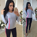 Brand Tracksuits Women Jerseys Outerwear Long Sleeve Tees Full Pants Cotton Printed Slim Fit Ladies Track Suits Women Set