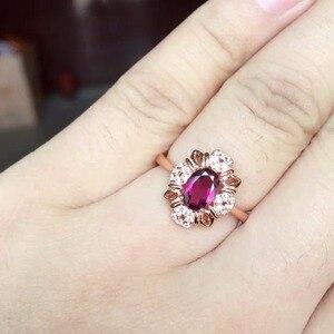 Image 3 - [MeiBaPJ בסדר באיכות טבעי אדום גרנט חן טרנדי תכשיטי סט לנשים אמיתי 925 כסף סטרלינג תכשיטים קסם