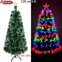 1 2m 130branches 110V And 220V Christmas Tree Fib Re Optic Star LED Colour Changing Traditional