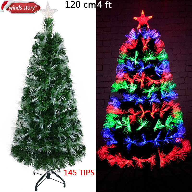 Christmas tree Fiber optic LED Artificial Chrismas tree Green Flash Indoor Xmas trees gift christmas decorations
