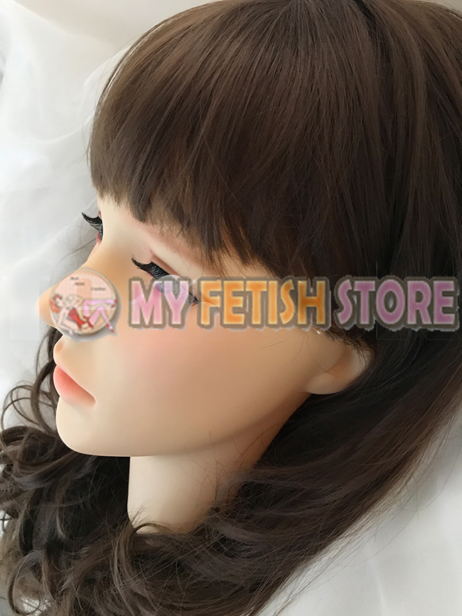 (Spring) Quality Handmade Soft Silicone Realist Full Head Female/Girl Crossdress Sexy Doll Face Cosplay Mask With Wig