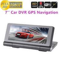 New T18 WIFI 7 HD 1080P Car Dual Camera Rear View DVR Recorder With GPS Navigator Built in Mic And Speaker Support FM TF