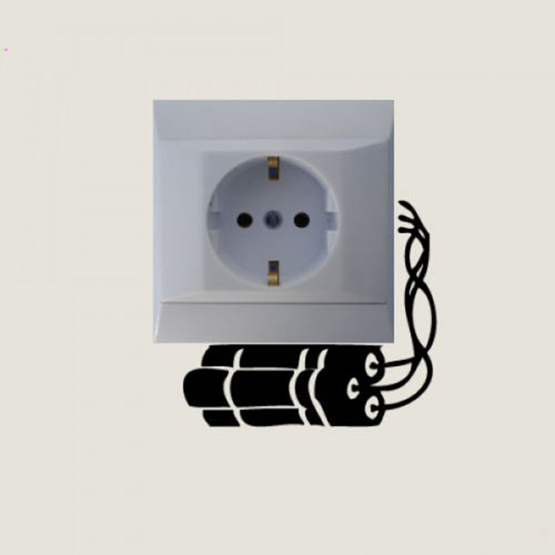 Light Switch Wall Sticker Kids Wall Decal Baby Room Decoration - Vinyl-decals-to-decorate-light-switches-and-outlets