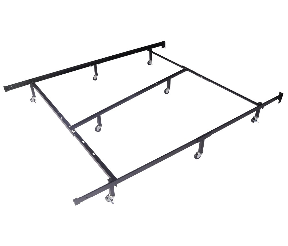 HLC Full Queen Cal King Adjustable 8 wheel Metal Bed Frame/mattress ...