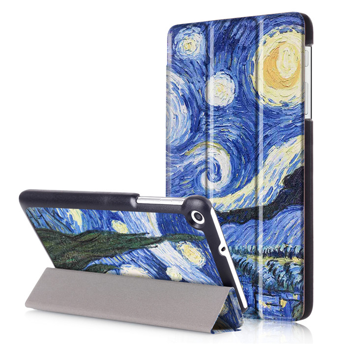 PU Leather Stand Cover Case for Huawei MediaPad T2 7.0 BGO-DL09 7 Tablet + 2Pcs Screen Protector