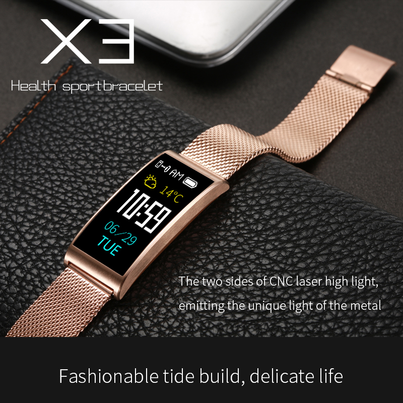 ABAY X3 Smart Watch Watch Steel Silicon Strap Waterproof IP68 Blood Pressure Heart Rate Monitor Wristband TFT IPS Bracelet Swim in Smart Watches from Consumer Electronics