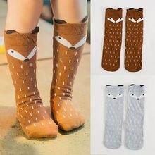 все цены на Baby Kids Girls Cotton Fox Socks Pants Hosiery Pantyhose Unisex Cute Cartoon Knee Toddler animal infant Soft Socks 1-5Y