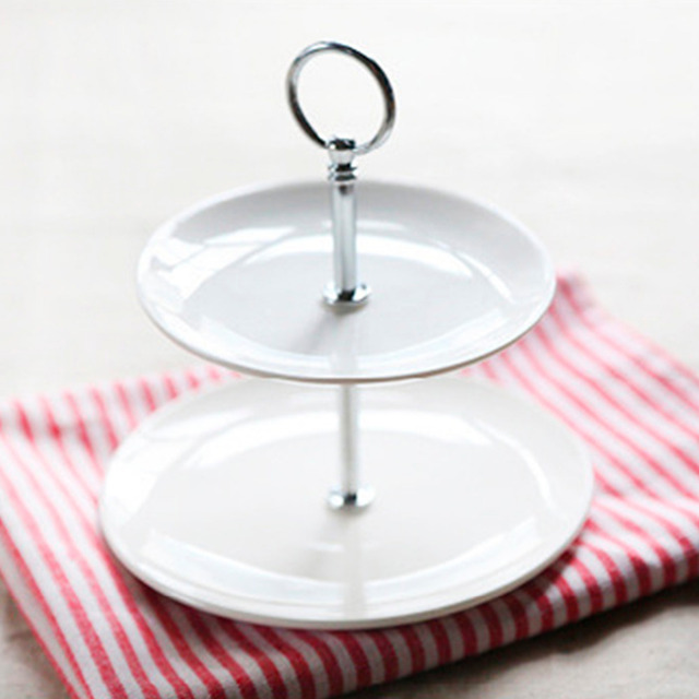 2 Tier Cake Stand Stainless Steel u0026 Cramic Round Cupcake Stand Wedding Birthday Cake Stand Display  sc 1 st  AliExpress.com & 2 Tier Cake Stand Stainless Steel u0026 Cramic Round Cupcake Stand ...