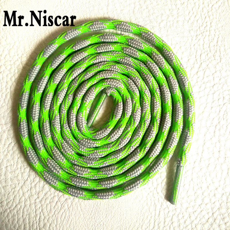 Mr.Niscar 2 Pair Strong Athletic Sports Sneaker Round Shoelaces 120cm 140cm 160cm Shoe Laces Outdoor Shoestring Round Shoelace jup 50 pairs sneaker shoelaces skate boot laces outdoor sport casual multicolor bumps round shoelace hiking slip rope shoe laces