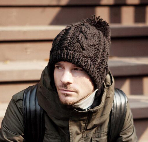 New 2014 Men's Winter Hat Beanie for men Outdoors Cap Knitting Hat for Men Ear warm Cap Sport Hat Free shipping the new children s cubs hat qiu dong with cartoon animals knitting wool cap and pile