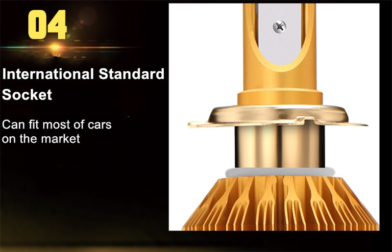 CROSSLEOPARD White Gold Color 12V 10000LM H4 H7 H1 H8 H9 H11 Led Car Headlight 3000K 6000K Dual Color Led Headlamp Auto Bulbs (10)