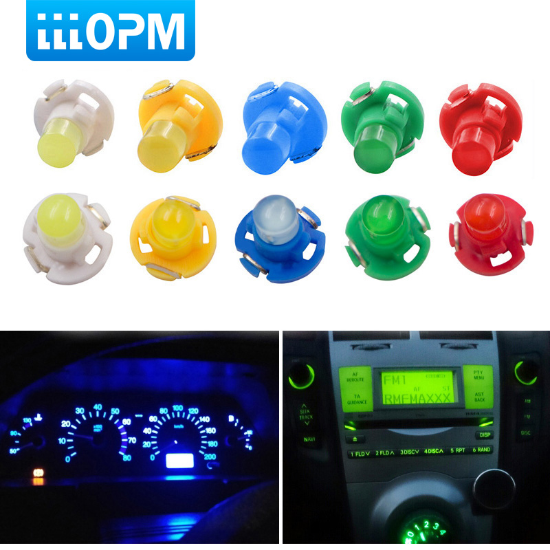 10x T3 LED Car Interior Light Bulb Cluster Gauges Dashboard White/Yellow/Blue/Red/Green Instruments Panel Climate Base Lamp Ligh
