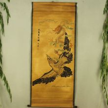 Antique collection Boutique Calligraphy and painting Dragon and Phoenix diagram