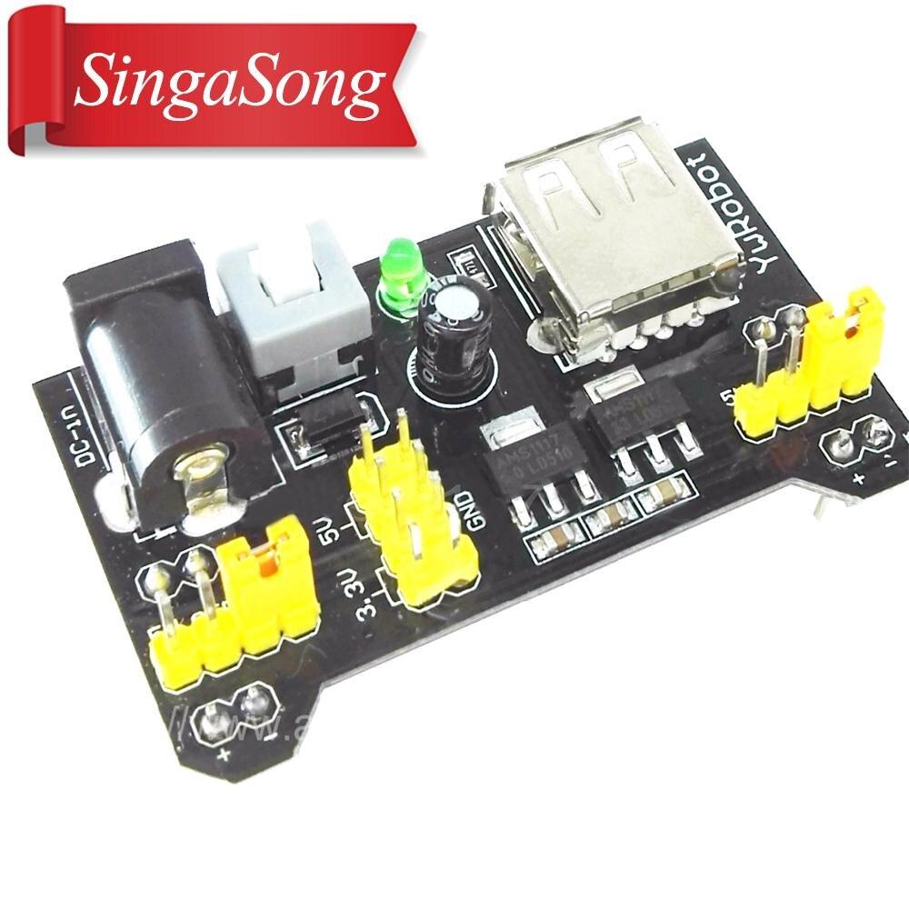 MB102 DC 7-12V Micro USB Interface Breadboard Power Supply Module Regulator 2 Channel Board 3.3V 5V MB-102