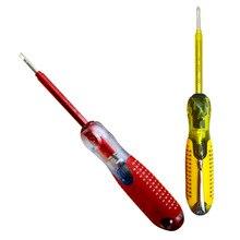 Test Stift Tragbare Spannung Tester Schraubendreher Elektrische Test Hand Werkzeug Licht Gerät Schraube Fahrer Hand Schraubendreher Werkzeug