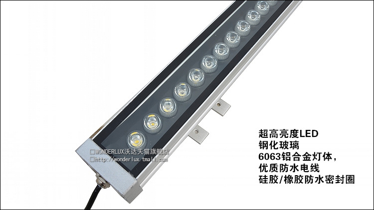 Super Bright Outdoor Project LED 18X1W 1M IP65 Outdoor Flood Wall Washer Light Lamp CE RoHS Waterproof Yard Garden