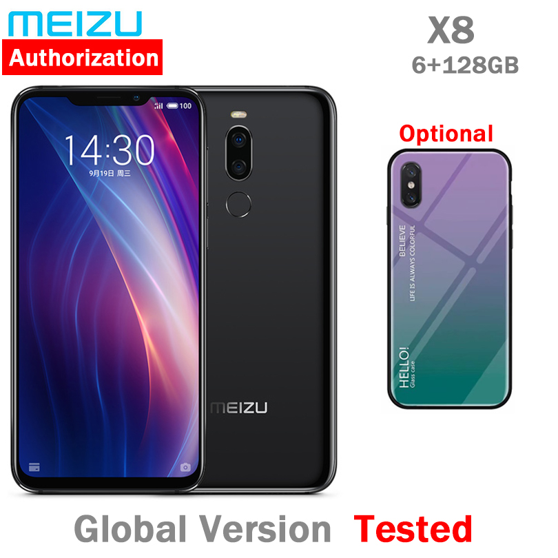 Original Meizu X8 6G 128G Snapdragon 710 Fingerprint 4G LTE Smart Phone Octa Core 6 2