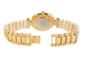 Image 4 - MISSFOX טבע פרל שעון נשים מפורסם מותג נירוסטה בחזרה מים עמיד זהב שעון קוורץ יהלומי שעון נשים