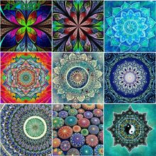 AZQSD Diamond Painting Flowers Abstract Crafts Diamond Embroidery 5d Diy Diamond Mosaic Home Decor Picture Of Rhinestones(China)