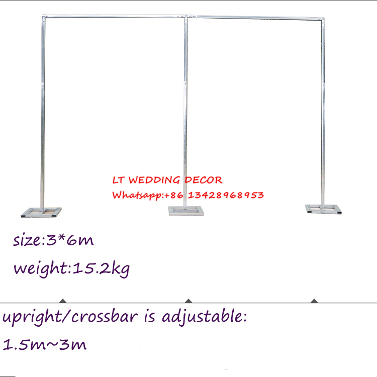 3m*6m wedding zincplated metal wedding backdrop stand/drap stand/piping frame