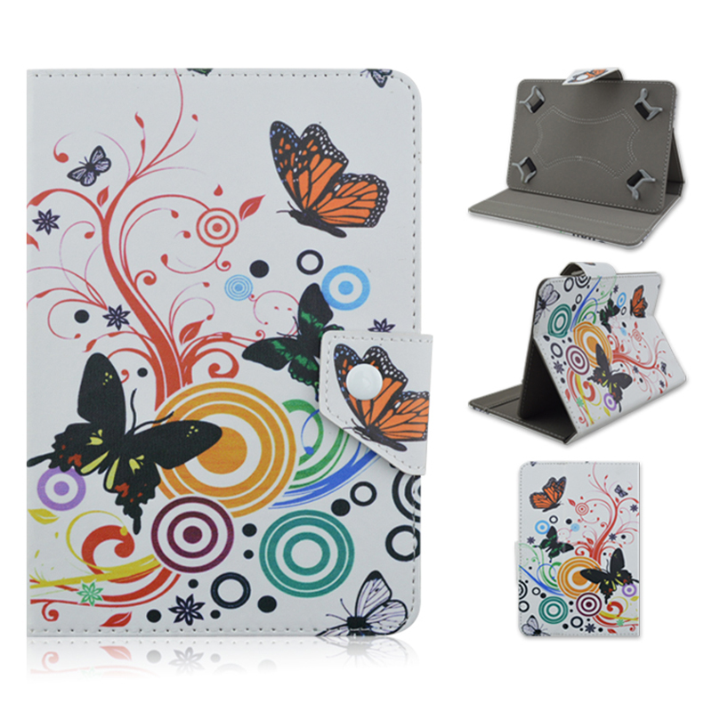 Butterfly pattern Leather Case Stand Cover For Universal Android Tablet PC PAD tablet for 7 8 10.1 inch cases Accessories Y4A92D luxury pu leather cover case for tablet 7 inch universal cases protective skin android tablet pc pad 7 accessories m4d69d