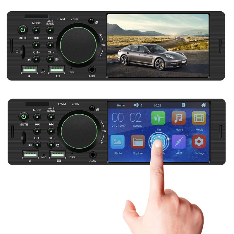 1Set 12V Universal Dual USB 4Inch HD Car Radio Bluetooth 4.0 Reverse Image Multimedia MP5 Player Car AUX FM Stereo Music Player
