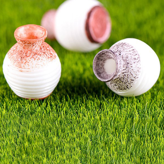 3pcs/Set Narrow- necked Bottles Vintage House Miniature Mini Vase Craft Fairy Garden Micro Landscape Decor Home Accessory 5