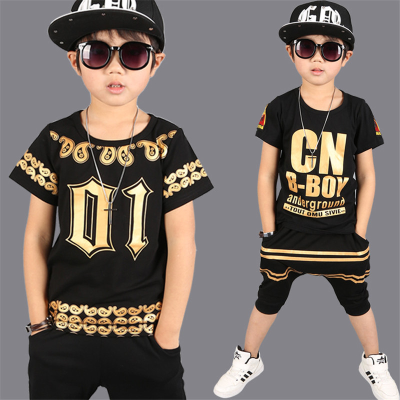 Boys Clothing Sets Cotton Casual Children Sports Suits Summer Kids Tracksuits Fashion Hip Hop Kids Clothes For Boys 3-12 Y 2017 new kids clothes children summer clothing sets baby boys hip hop cotton costumes tracksuit vetement enfant garcon roupa