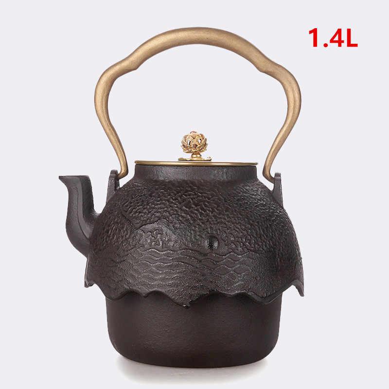 dorado tetera japonesa de hierro fundido con infusor de acero inoxidable para t/é de hojas sueltas 0,3 L//10 oz Tetera de hierro fundido