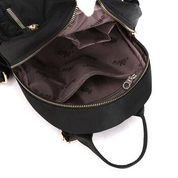 Fashion Nylon Small Backpack Women Waterproof Flower Travel Multi-function Beach Soft Shoulder School Bag Bagpack 3