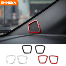 SHINEKA Car Styling Auto Door A Pillar Speaker Decoration Cover Trim Ring Frame Stickers ABS Fit  for Ford F150 2015+