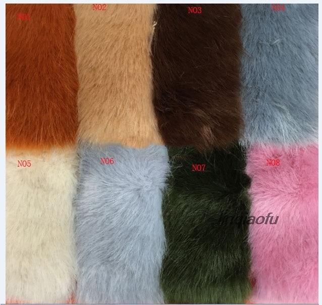 Grande fourrure de renard en forme de fourrure haute densité vertical en peluche tissu en fausse fourrure, 170*90 cm (une cour) un pcs